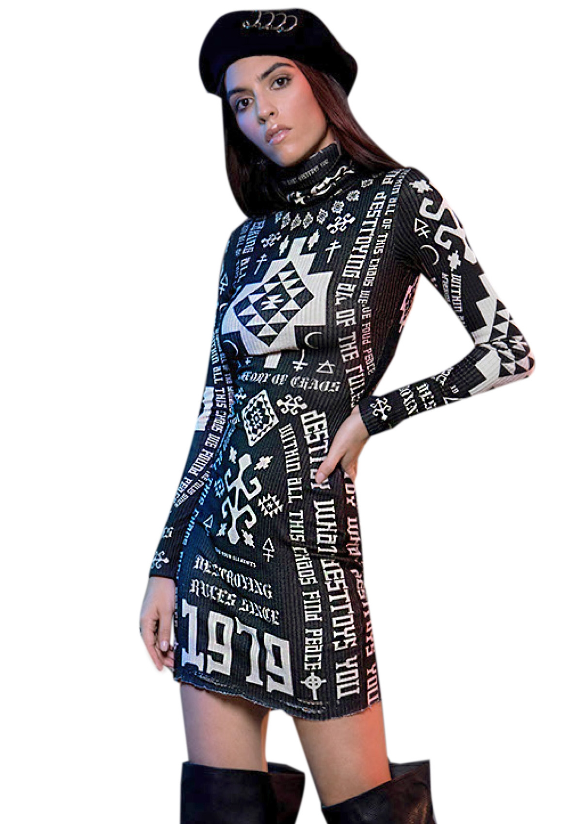 PEACE AND CHAOS DESTROY DRESS - Abebablom Store 0eee63a3df1