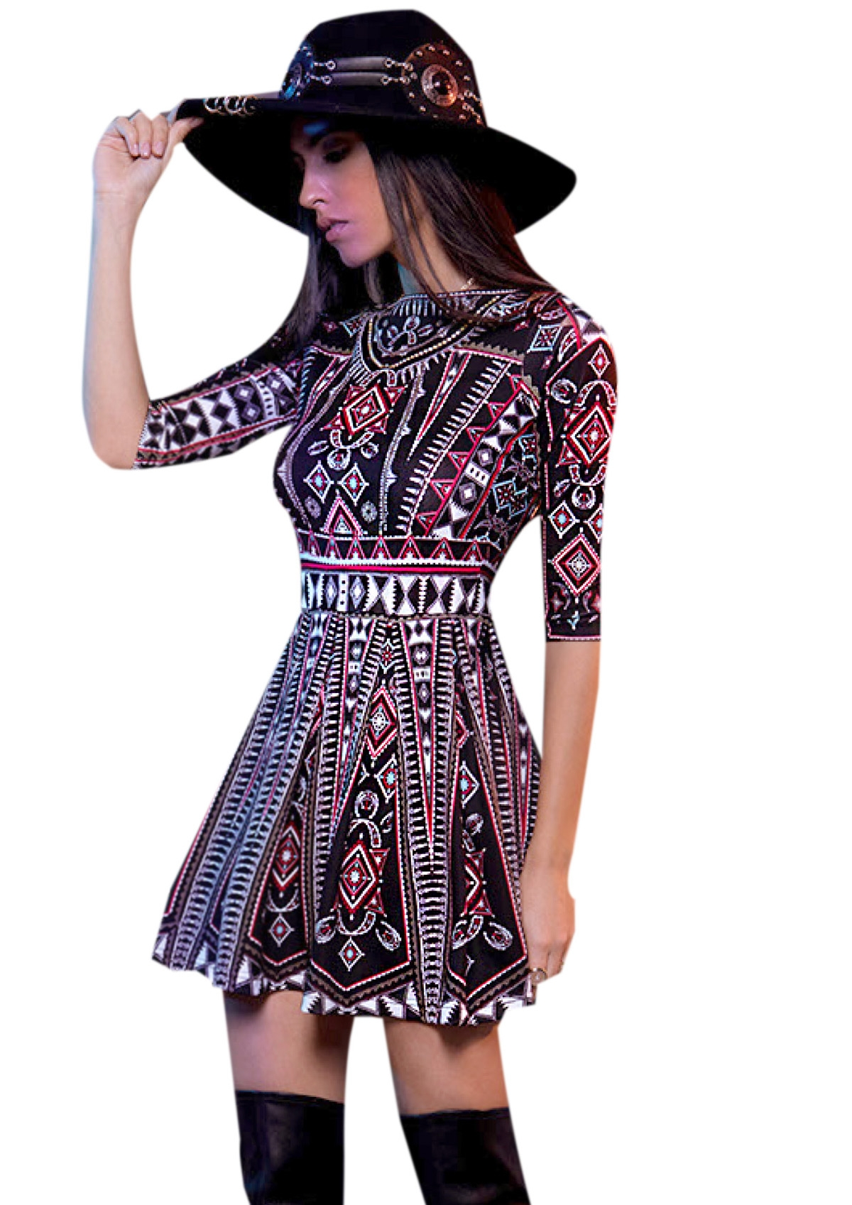 PEACE AND CHAOS FOLK LOVE DRESS - Abebablom Store 64fb824a4d1