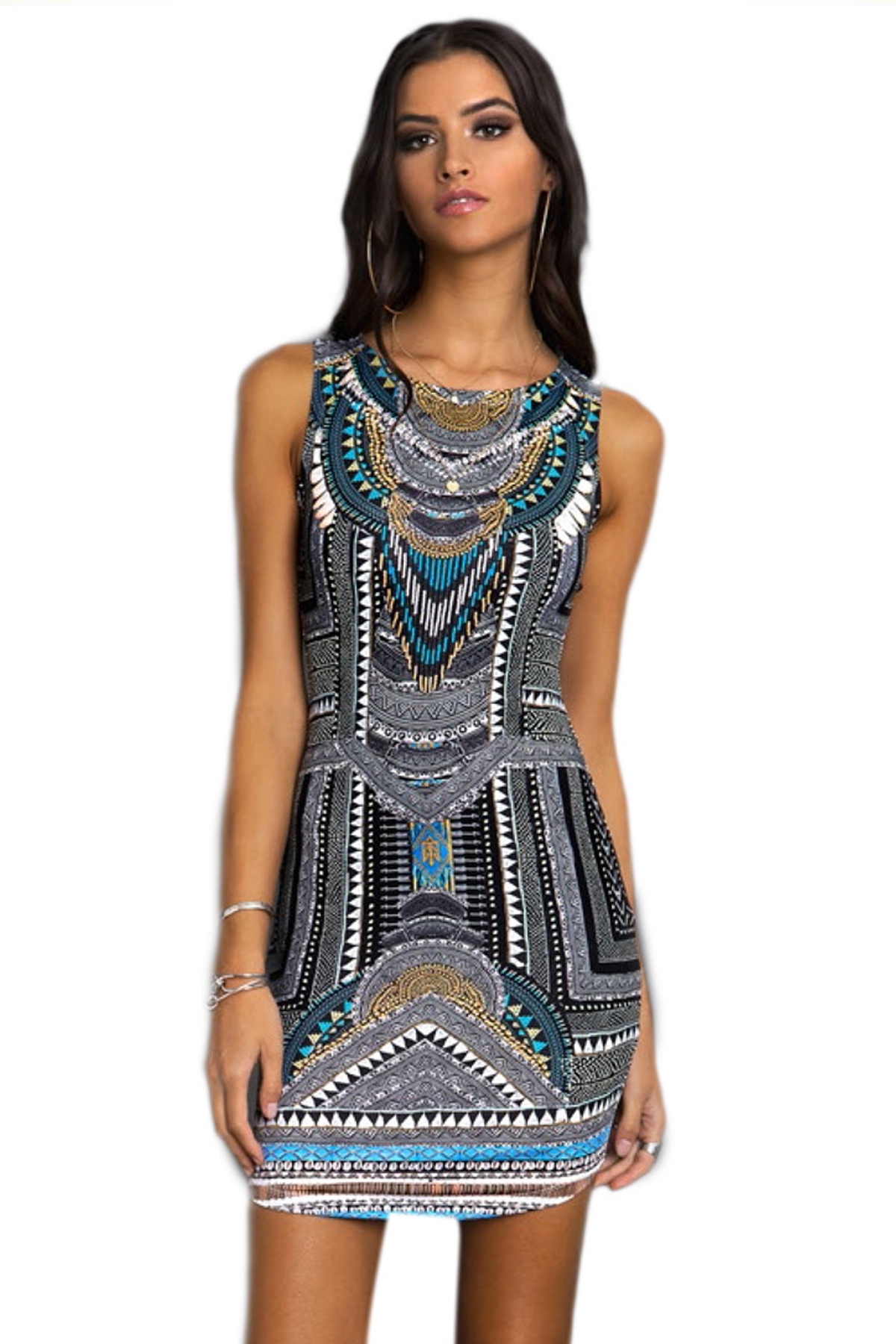 PEACE AND CHAOS TRIBAL BODYCON - Abebablom Store 6947272243d