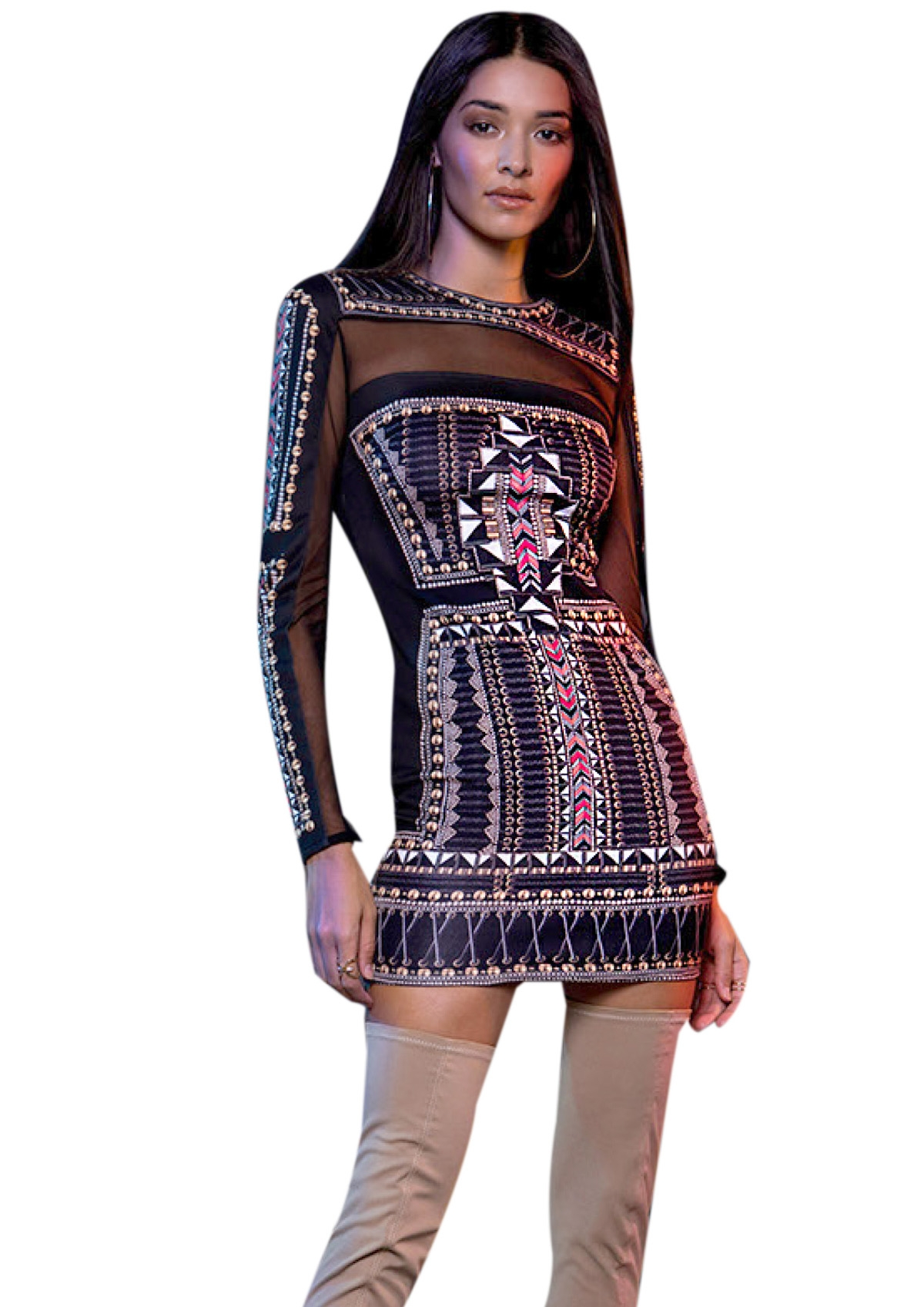 PEACE AND CHAOS GOLD MESH DRESS - Abebablom Store ce2d291b08f