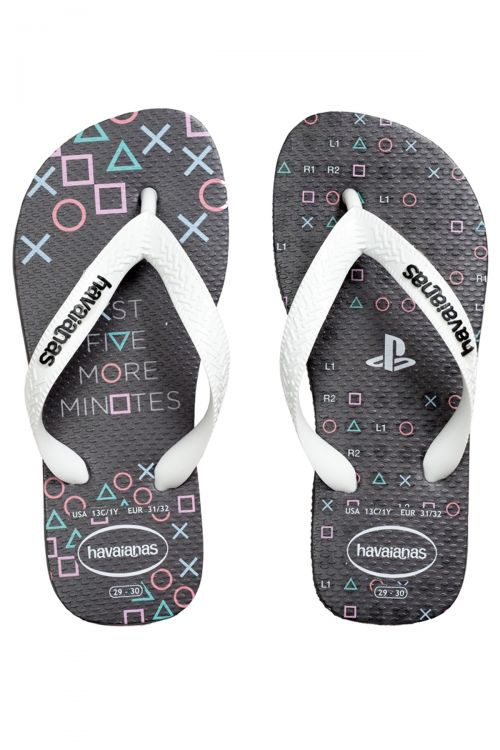 HAVAIANAS SANDALS KIDS PLAYSTATION - Graphite
