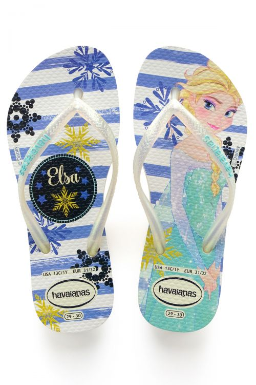 Havaianas Kids Slim Frozen - White/Royal