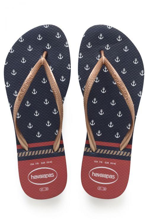 Havaianas Slim Nautical - Navy/Red