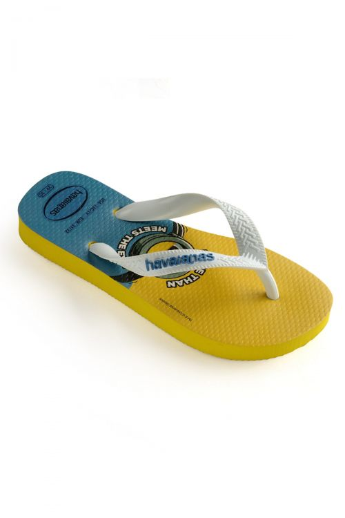 HAVAIANAS SANDALS KIDS MINIONS - Yellow Citric/White