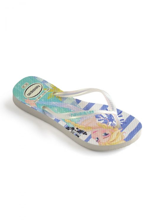 HAVAIANAS SANDALS KIDS SLIM FROZEN - White/Royal