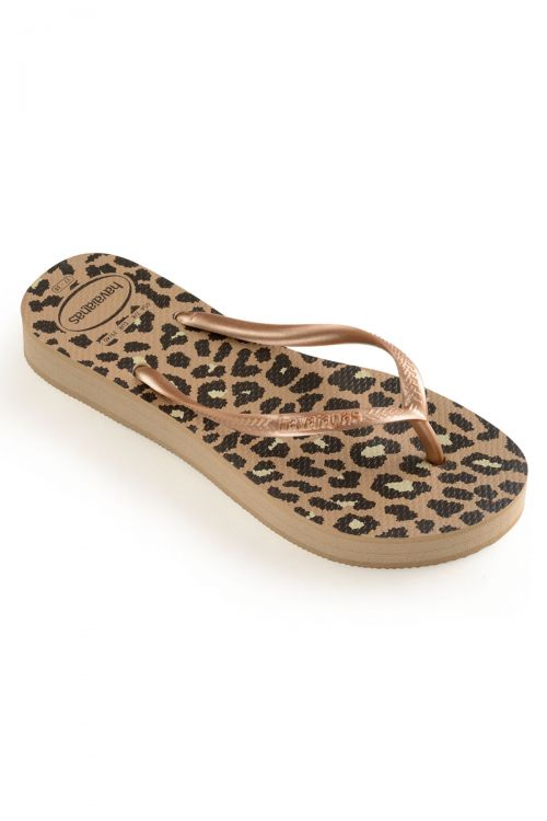 Havaianas Slim Flatform Animals - Rose Gold