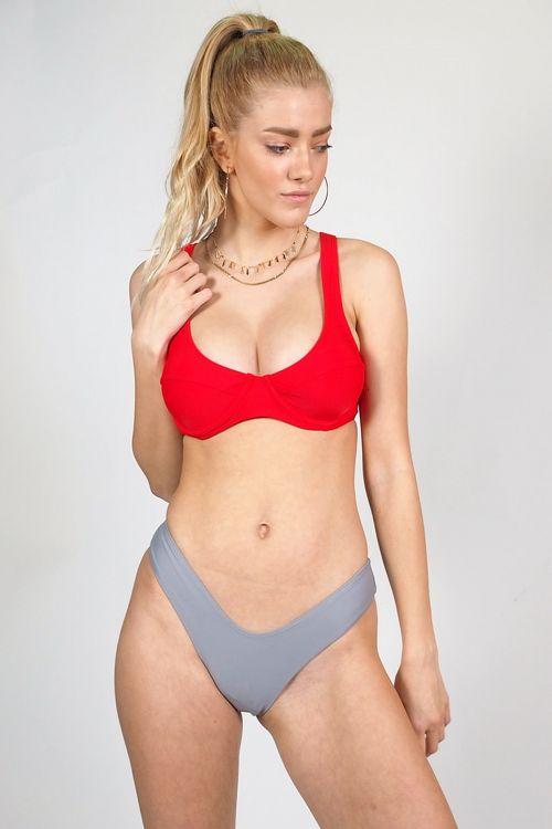 Σετ μαγιό brazil double coloured - Κόκκινο