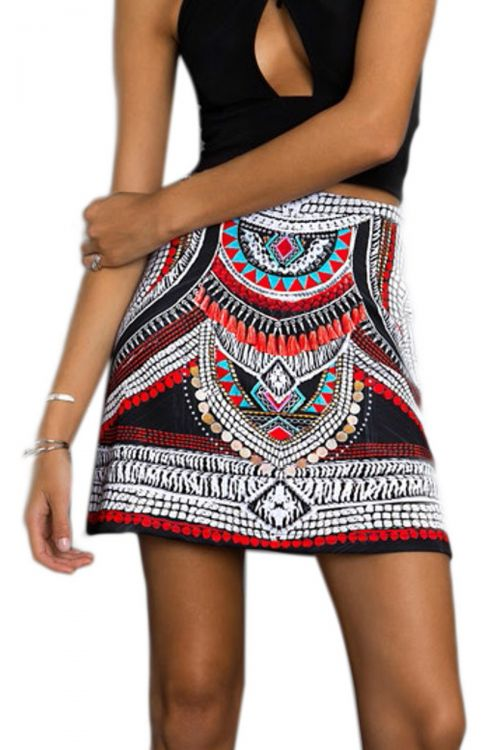 PEACE AND CHAOS TAMPICO A LINE SKIRT