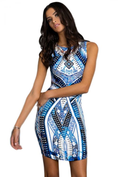 PEACE AND CHAOS PORCELAIN PARADISE BODYCON