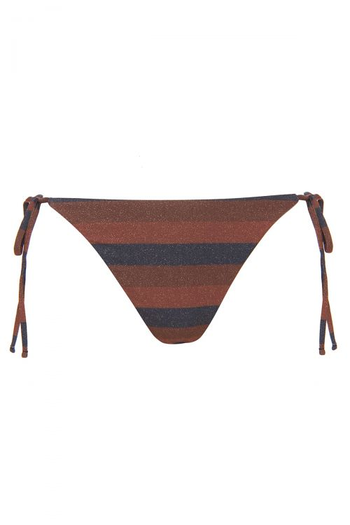 CALLISTO TIE SIDE BOTTOM - Terracotta/Navy Blue