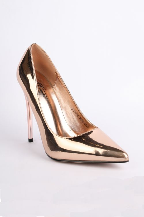 METALLIC SHADE PUMPS - Rose Gold
