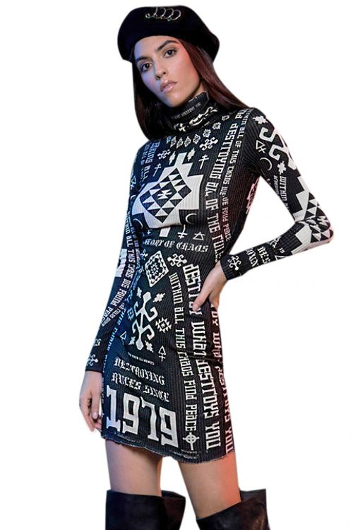 PEACE AND CHAOS DESTROY DRESS
