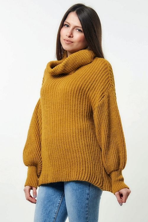 LONG HIGH NECK SWEATER