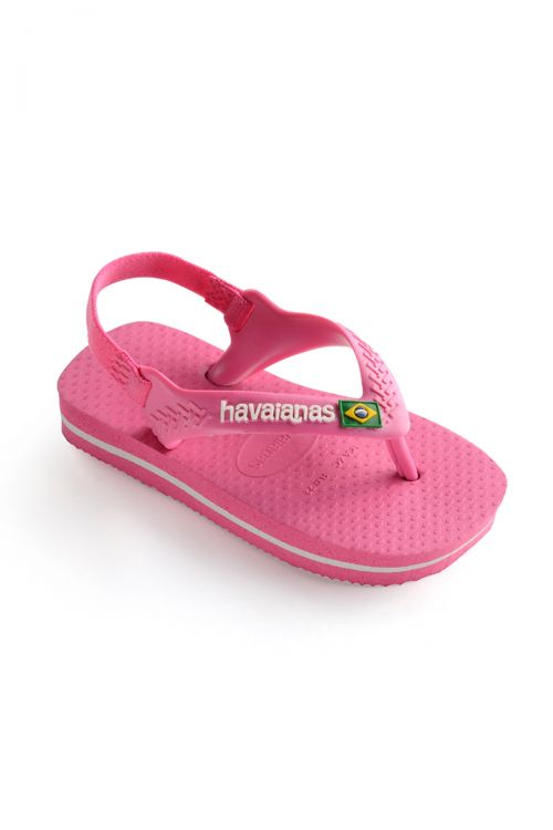 HAVAIANAS SANDALS BABY BRASIL LOGO II - Pink