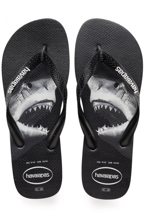 HAVAIANAS SANDALS TOP PHOTOPRINT - Black/Black