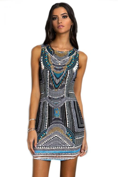 PEACE AND CHAOS TRIBAL BODYCON