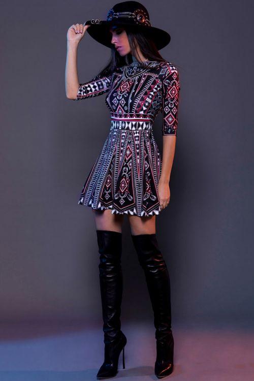 PEACE AND CHAOS FOLK LOVE DRESS