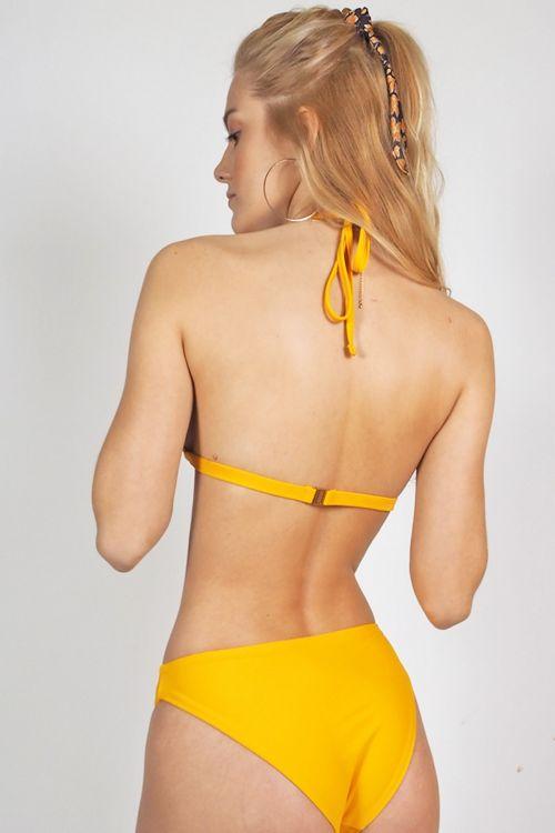 Σετ μαγιό τρίγωνο Carol - Κίτρινο