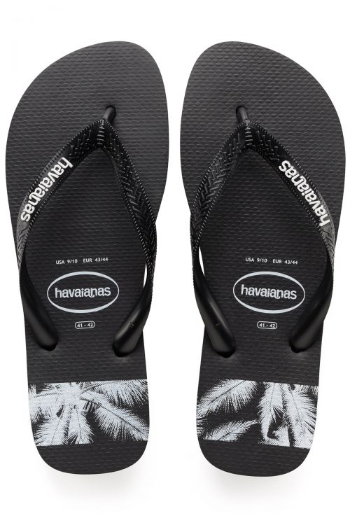 HAVAIANAS SANDALS STRIPES LOGO - Black/Black