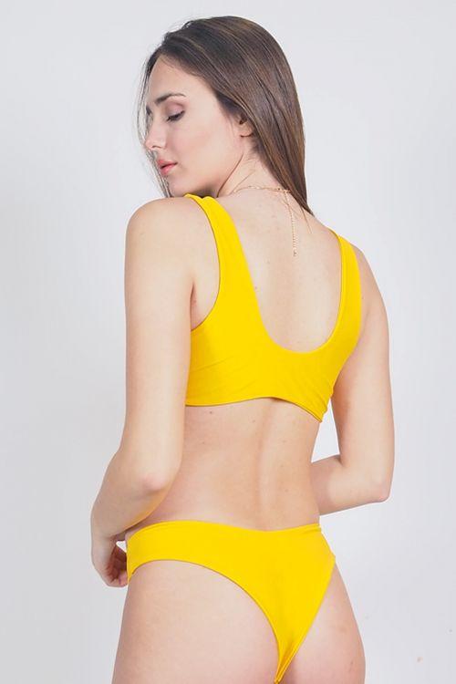 Σετ μαγιό bow tie - Κίτρινο