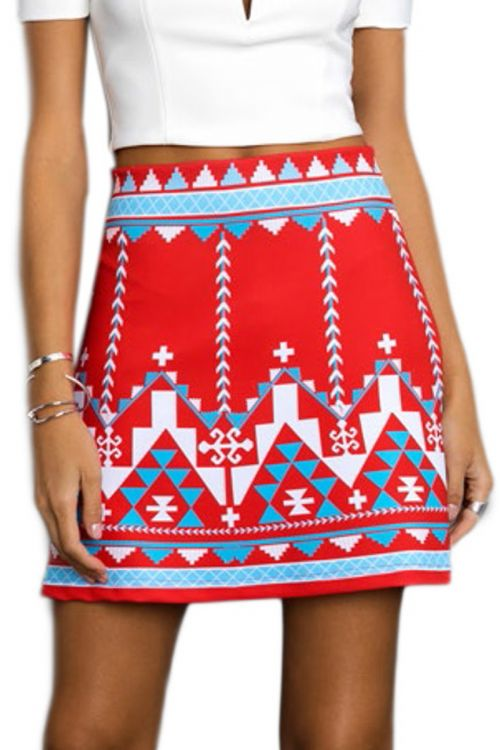 PEACE AND CHAOS KIEV RED A LINE SKIRT