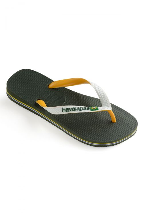 HAVAIANAS SANDALS BRASIL MIX - Green Olive