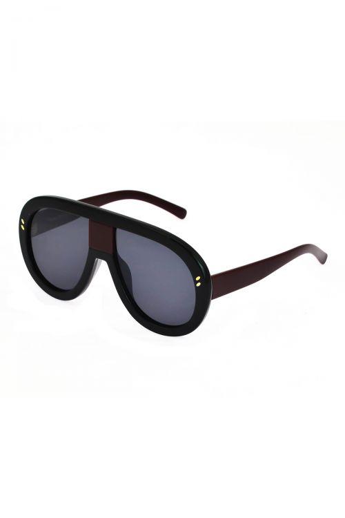 Γυαλιά ηλίου handmade - Black/Ruby Red