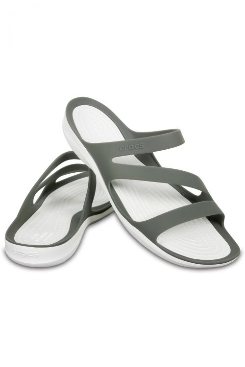 CROCS SWIFTWATER SANDAL W - Smoke/White