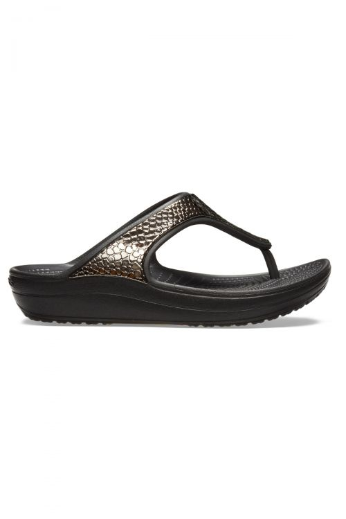 Crocs Sloane MetalTxt Flip W - Black/Copper