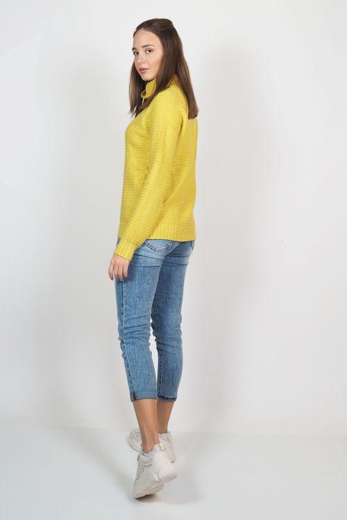 ΠΛΕΚΤΟ STRIPED HIGH NECK - Κίτρινο