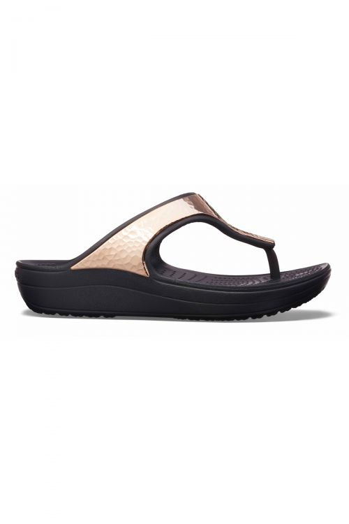 CROCS SLOANE HAMMERED MET FLIP W - Black/Copper
