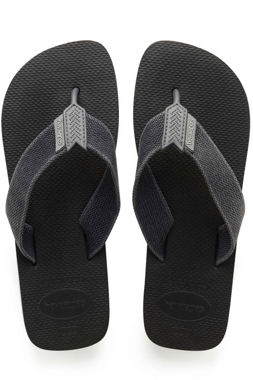 HAVAIANAS SANDALS URBAN BASIC - Black/Steel Grey