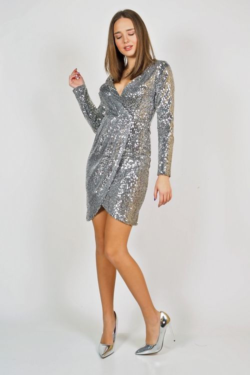 SEQUIN PARTY DRESS - ΑΣΗΜΙ