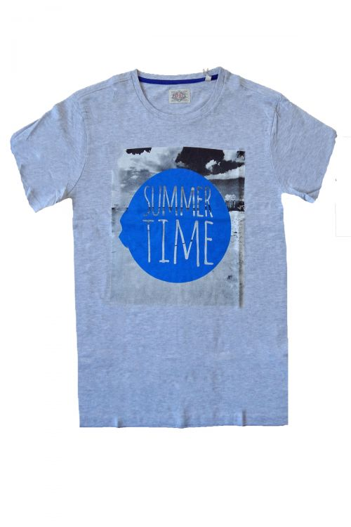 T-SHIRT SUMMER TIME - Γκρι