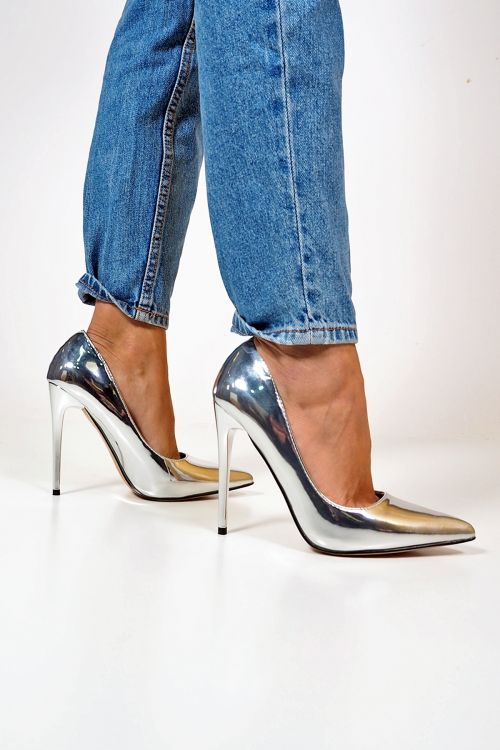 METALLIC SHADE PUMPS - Silver