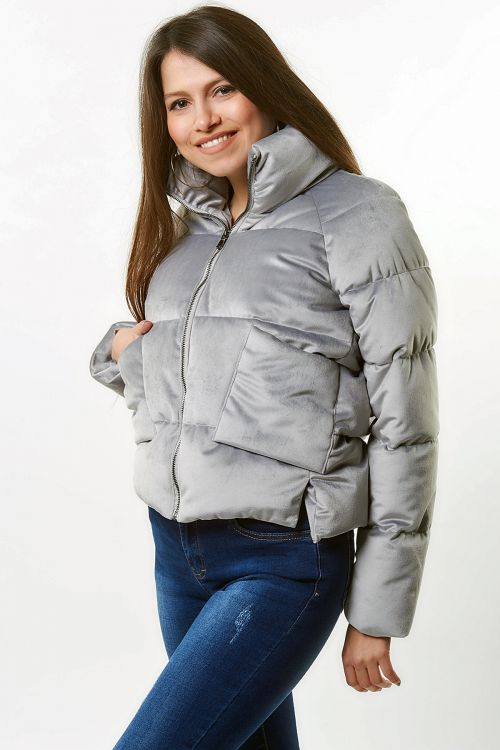 PUFFER FLASHY COAT - Ice Grey