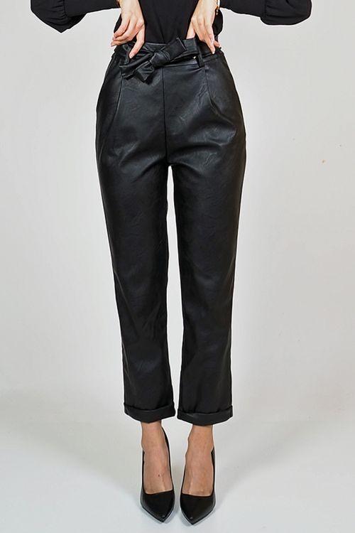 RIHANNA LETHAL PANTS - Μαύρο