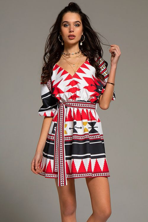 PEACE AND CHAOS NATIVE DRESS - Black/Red