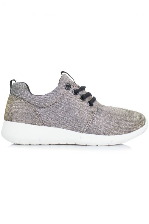SPORTY HOLOGRAPHIC TRAINERS - Sand Grey/Light Golden