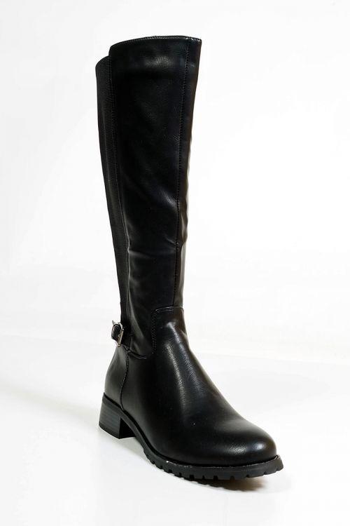 Μπότες με τρακτερωτη σόλα Joe - Μαύρο