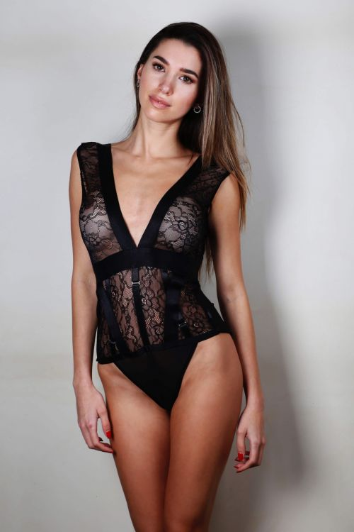 Lace body love skin - Μαύρο