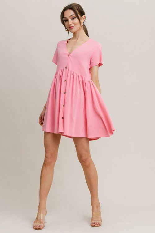 RUT & CIRCLE KAJSA DRESS - Ροζ