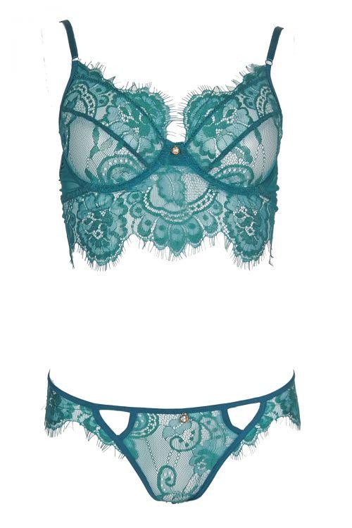 Σετ εσώρουχο lace desire - Πράσινο