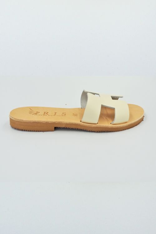 Leather Sandals Helios - Εκρού