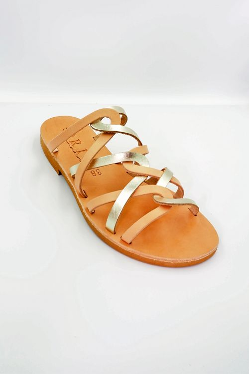 Leather Sandals Amphitriti - Rose Gold