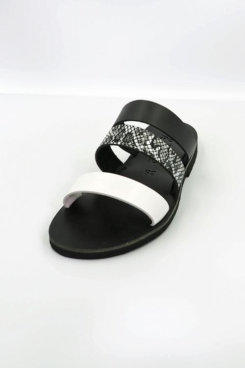 Leather Sandals Ofis - Μαύρο