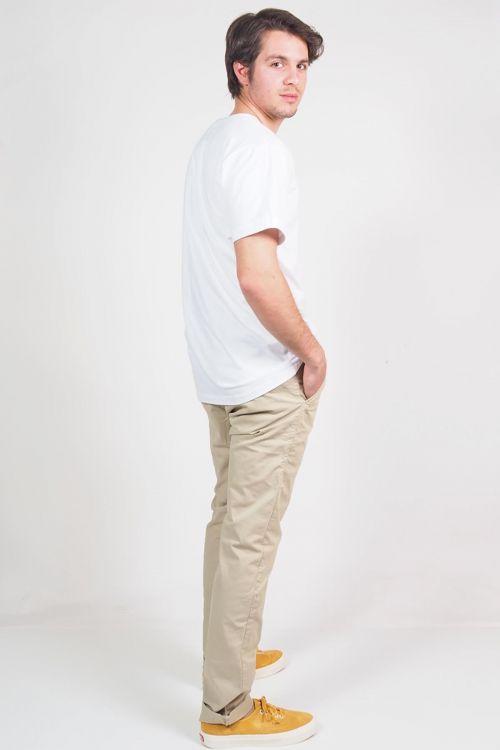 Ανδρικό t-shirt Base round neck - Λευκό