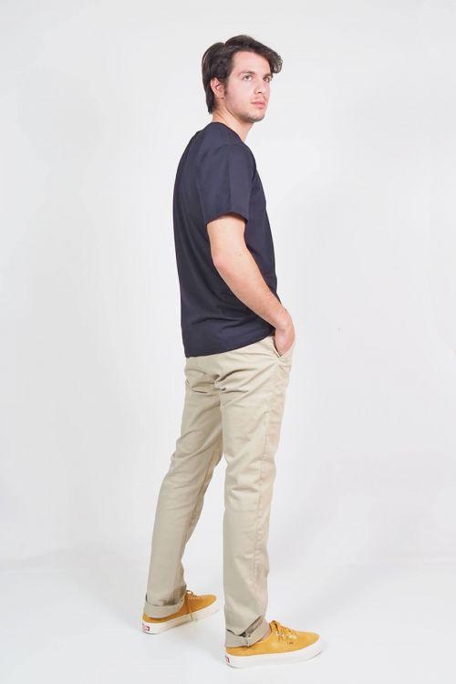 Ανδρικό t-shirt Base round neck - Μπλε Σκούρο