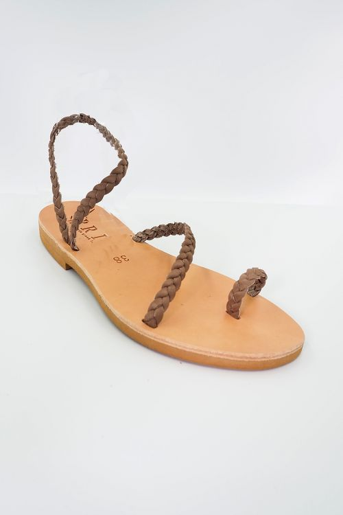 Leather Sandals Alkistis - Ταμπά