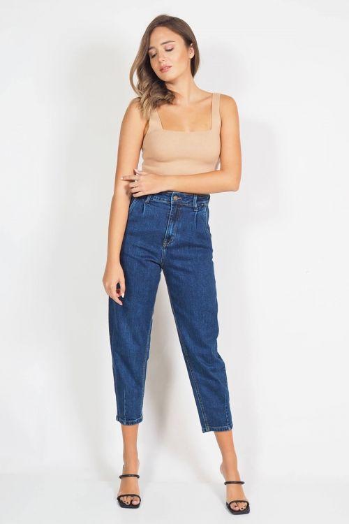 Παντελόνι premium Slouchy Charlize - Μπλε